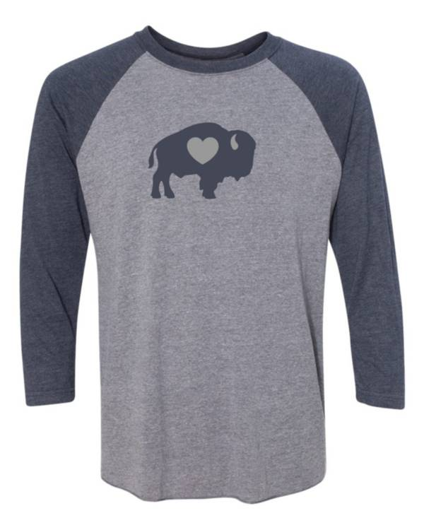 BuffaLove Men's Raglan Grey Three-Quarter Sleeve Shirt product image