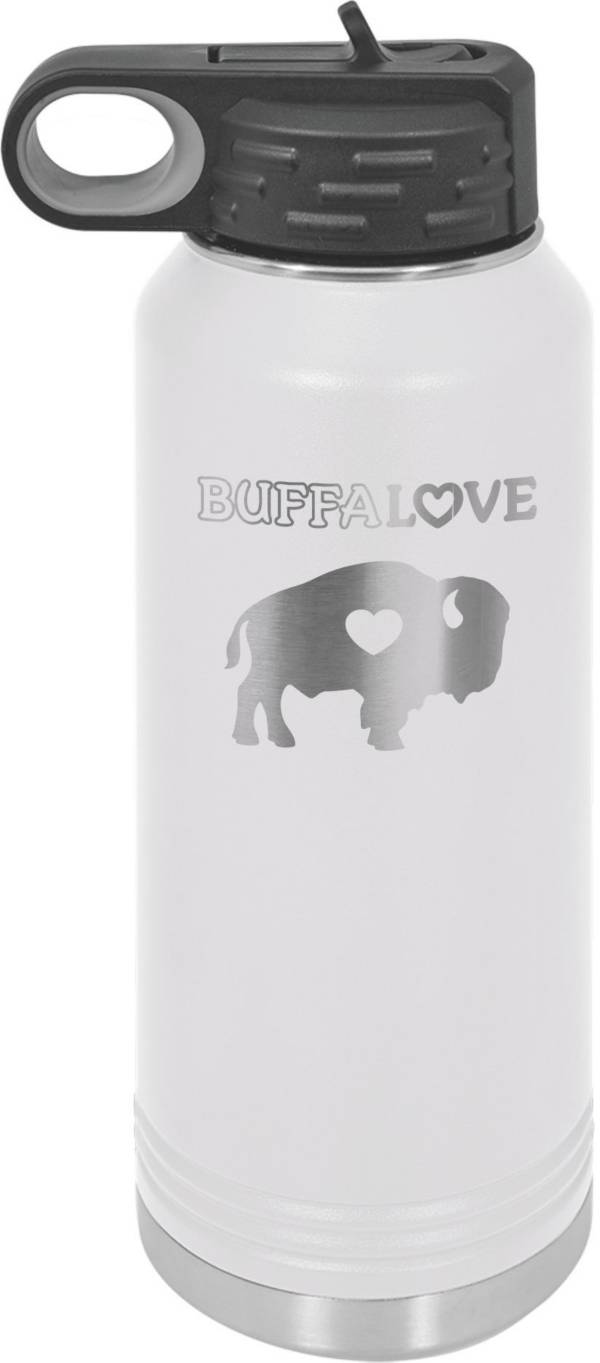 BuffaLove White 32.oz Stainless Steel Water Bottle product image