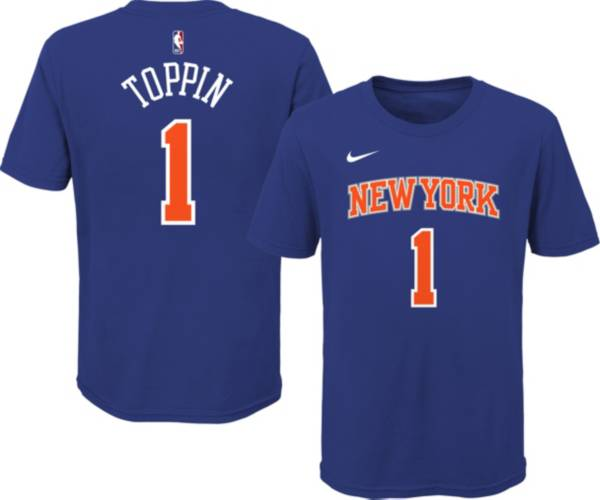 Nike Youth New York Knicks Obi Toppin #1 Blue Cotton T-Shirt product image
