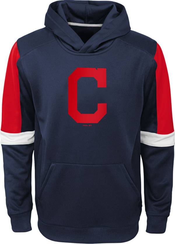 Gen2 Youth Cleveland Indians Navy Base Up Pullover Hoodie product image
