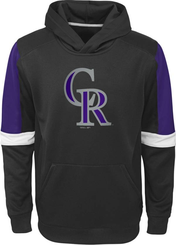 Gen2 Youth Colorado Rockies Black Base Up Pullover Hoodie product image