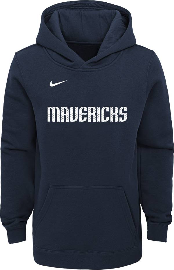 Nike Youth Dallas Mavericks Navy Statement Hoodie product image