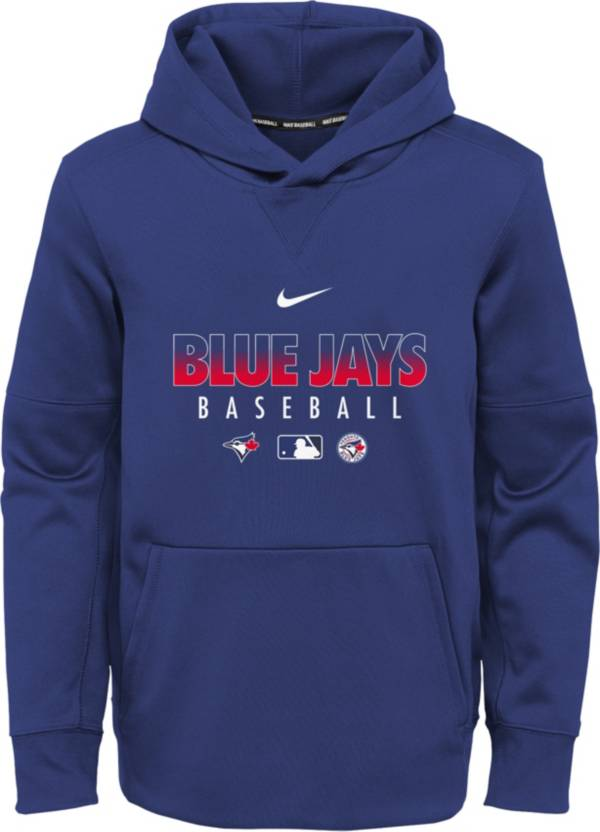 Nike Youth Toronto Blue Jays Blue Dri-FIT Therma Pullover Hoodie product image