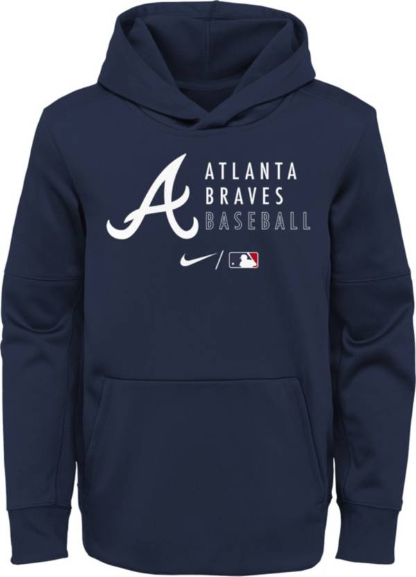 Outerstuff Youth Atlanta Braves Navy Therma-FIT Hoodie product image