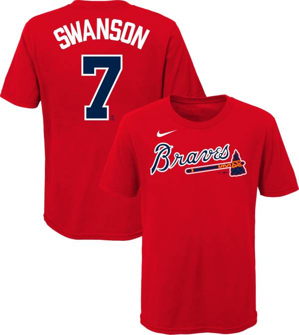 Nike Youth Atlanta Braves Dansby Swanson #7 Red T-Shirt product image