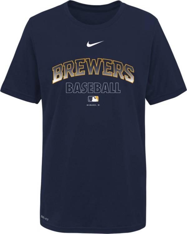 Nike Youth Milwaukee Brewers Navy Dri-FIT Baseball T-Shirt product image