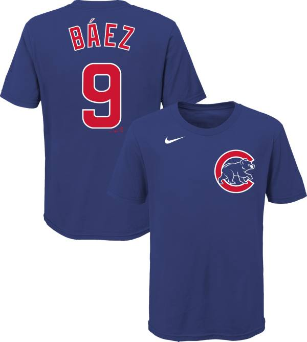Nike Youth Chicago Cubs Javier Baez #9 Blue T-Shirt product image