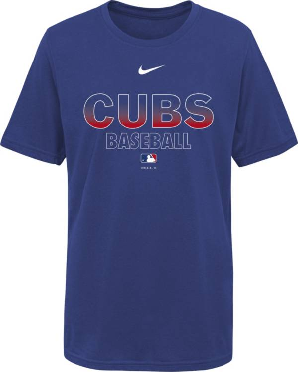 Nike Youth Chicago Cubs Blue Dri-FIT Baseball T-Shirt product image
