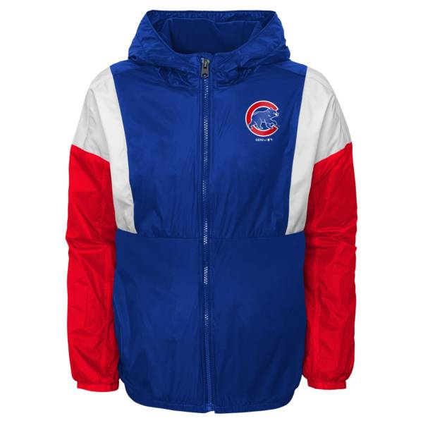 Gen2 Youth Chicago Cubs Royal Long Sleeve Windbreaker Jacket product image