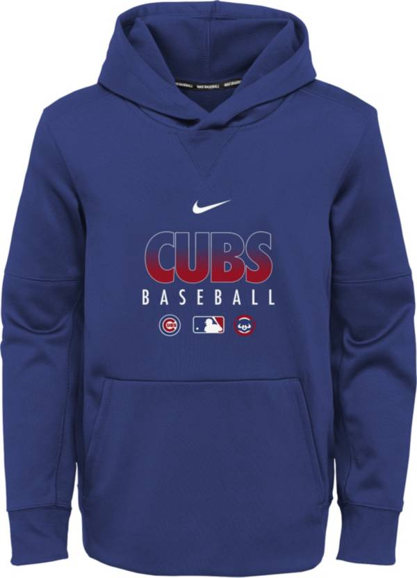 Nike Youth Chicago Cubs Blue Dri-FIT Therma Pullover Hoodie product image