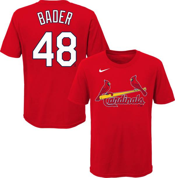 Nike Youth St. Louis Cardinals Harrison Bader #48 Red T-Shirt product image