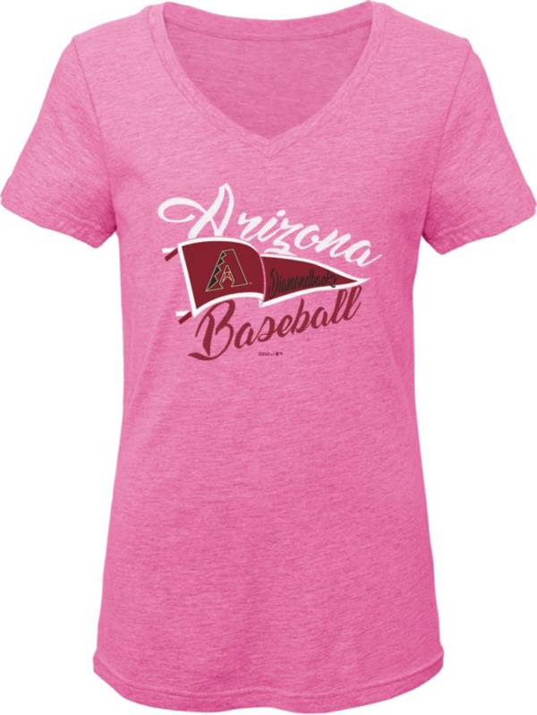 Gen2 Youth Girls' Arizona Diamondbacks Pink Fly the Flag V-Neck T-Shirt product image