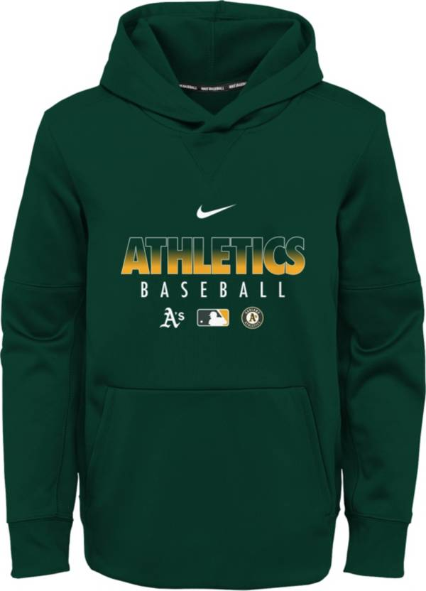 Nike Youth Oakland Athletics Green Dri-FIT Therma Pullover Hoodie product image
