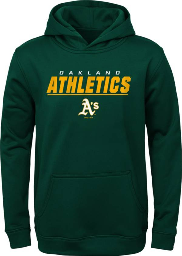 Gen2 Youth Oakland Athletics Static Dark Green Pullover Hoodie product image