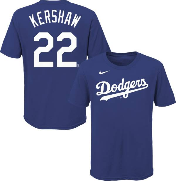 Nike Youth Los Angeles Dodgers Clayton Kershaw #22 Blue T-Shirt product image