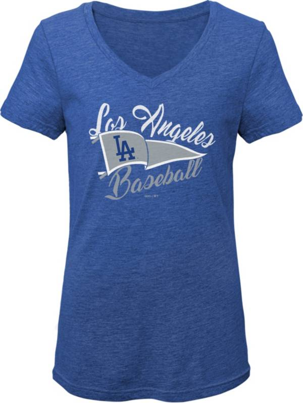 Gen2 Youth Girls' Los Angeles Dodgers Royal Fly the Flag V-Neck T-Shirt product image