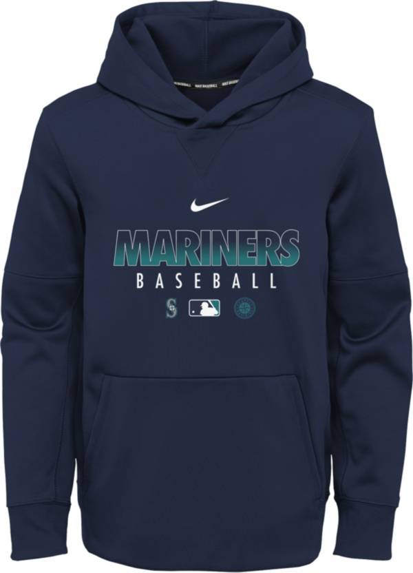Nike Youth Seattle Mariners Navy Dri-FIT Therma Pullover Hoodie product image