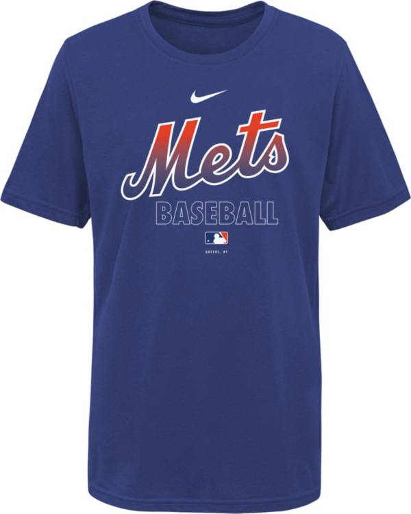 Nike Youth New York Mets Blue Dri-FIT Baseball T-Shirt product image