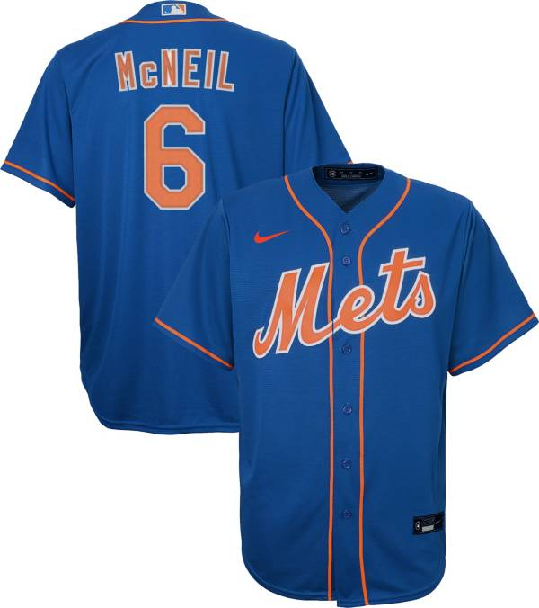 Nike Youth Replica New York Mets Jeff McNeil #6 Cool Base Royal Jersey product image