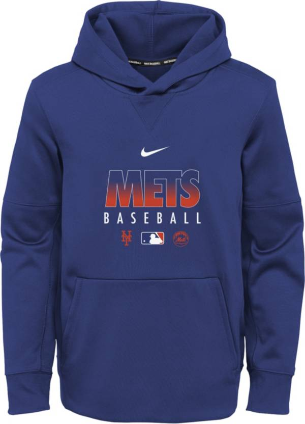 Nike Youth New York Mets Blue Dri-FIT Therma Pullover Hoodie product image