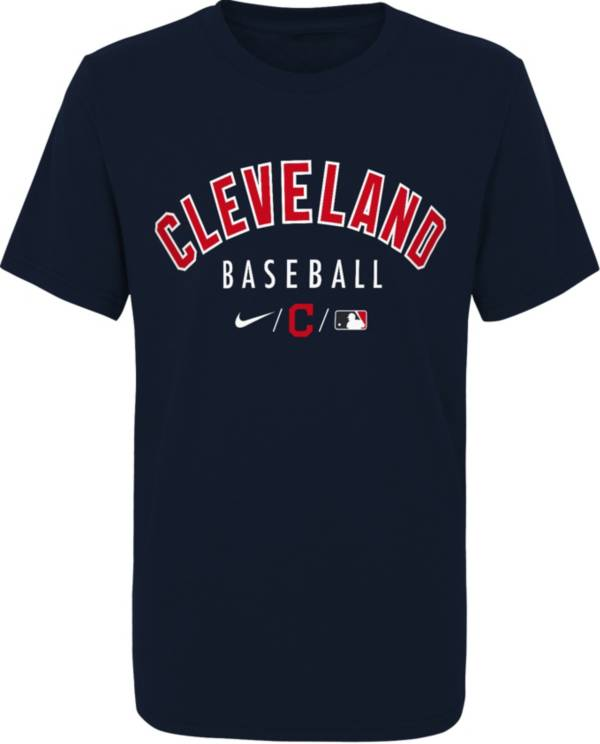 Outerstuff Youth Cleveland Indians Blue Velocity Practice T-Shirt product image