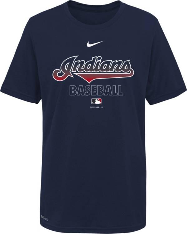 Nike Youth Cleveland Indians Navy Dri-FIT Baseball T-Shirt product image