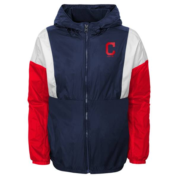 Gen2 Youth Cleveland Indians Navy Long Sleeve Windbreaker Jacket product image