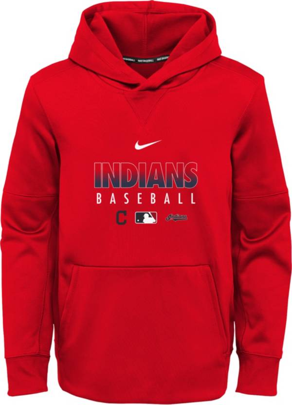 Nike Youth Cleveland Indians Red Dri-FIT Therma Pullover Hoodie product image