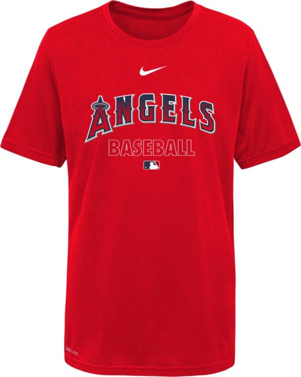 Nike Youth Los Angeles Angels Red Dri-FIT Baseball T-Shirt product image