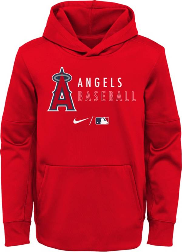 Nike Youth Los Angeles Angels Sideline Therma-FIT Red Pullover Hoodie product image