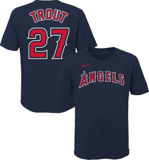 Nike Youth Los Angeles Angels Mike Trout #27 Navy T-Shirt product image