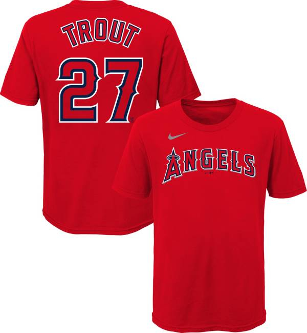 Nike Youth Los Angeles Angels Mike Trout #27 Red T-Shirt product image