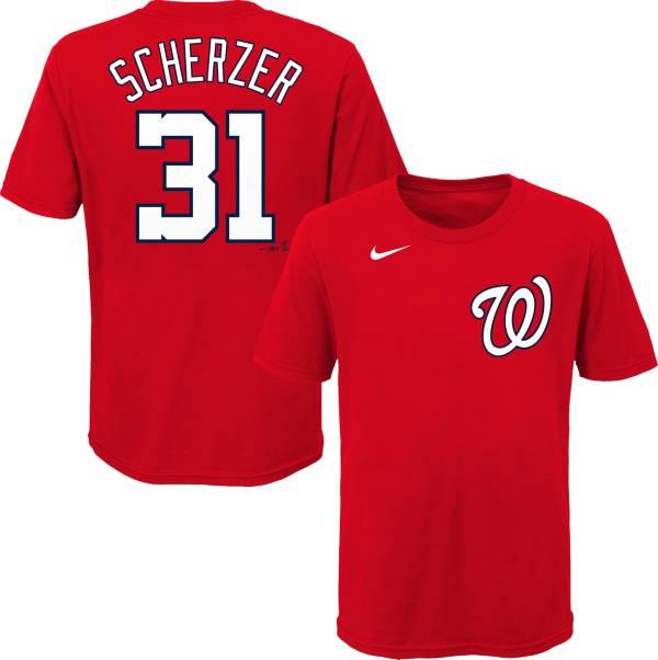 Nike Youth Washington Nationals Max Scherzer #31 Red T-Shirt product image