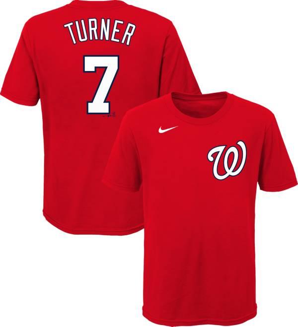 Nike Youth Washington Nationals Trea Turner #7 Red T-Shirt product image