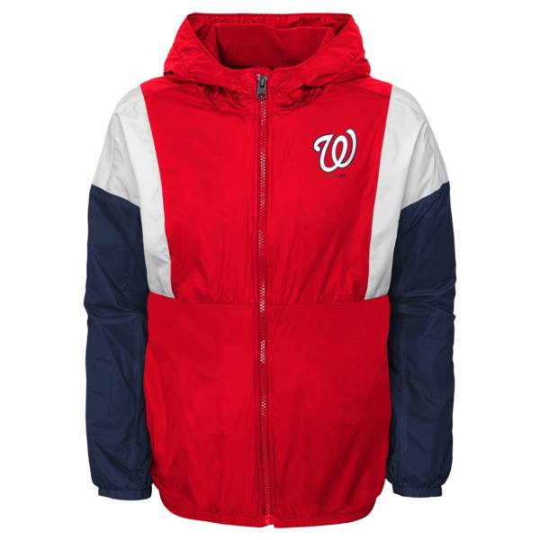 Gen2 Youth Washington Nationals Red Long Sleeve Windbreaker Jacket product image