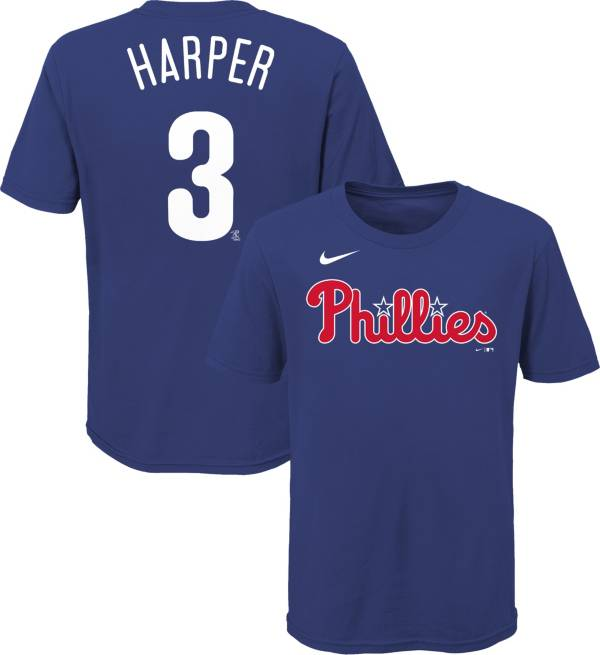 Nike Youth Philadelphia Phillies Bryce Harper #3 Blue T-Shirt product image