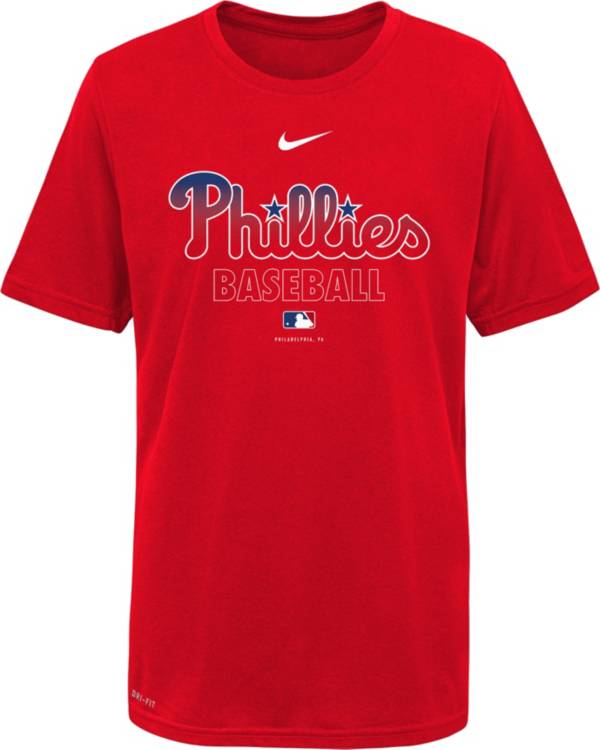 Nike Youth Philadelphia Phillies Red Dri-FIT Baseball T-Shirt product image