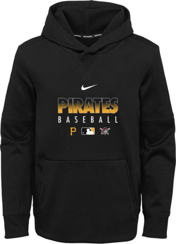 Nike Youth Pittsburgh Pirates Black Dri-FIT Therma Pullover Hoodie product image
