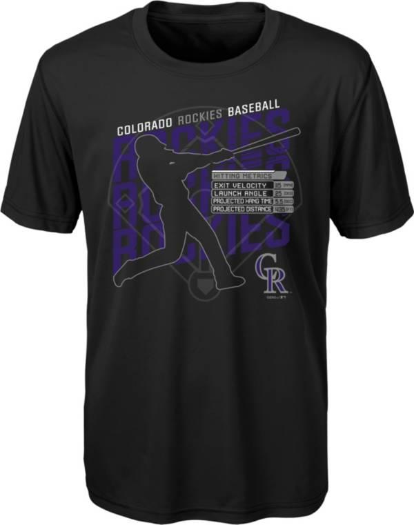 Gen2 Youth Colorado Rockies Black Matrix T-Shirt product image