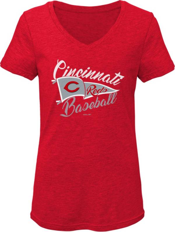 Gen2 Youth Girls' Cincinnati Reds Red Fly the Flag V-Neck T-Shirt product image