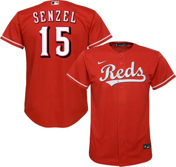 Nike Youth Replica Cincinnati Reds Nick Senzel #15 Cool Base Red Jersey product image