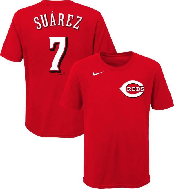 Nike Youth Cincinnati Reds Eugenio Suarez #7 Red T-Shirt product image