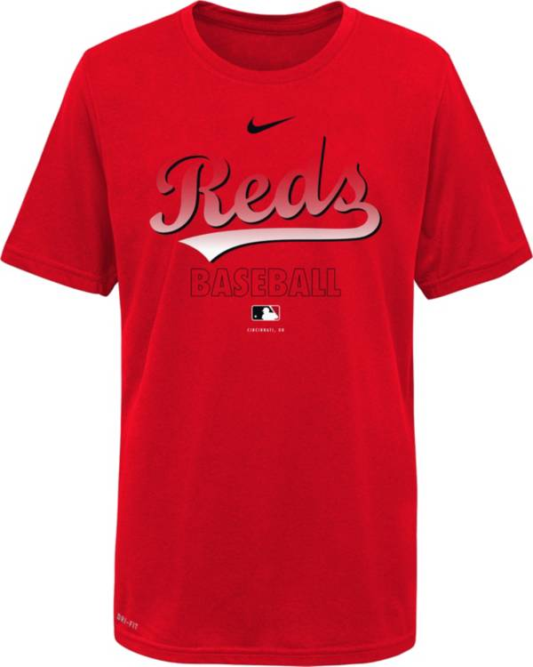 Nike Youth Cincinnati Reds Red Dri-FIT Baseball T-Shirt product image