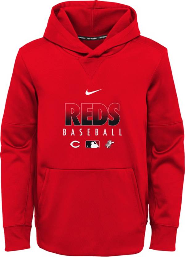 Nike Youth Cincinnati Reds Red Dri-FIT Therma Pullover Hoodie product image