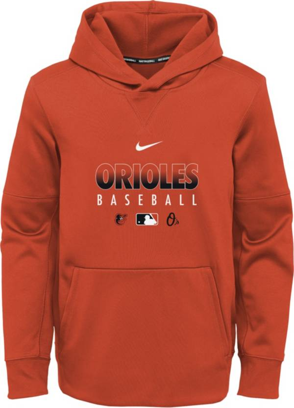 Nike Youth Baltimore Orioles Orange Dri-FIT Therma Pullover Hoodie product image