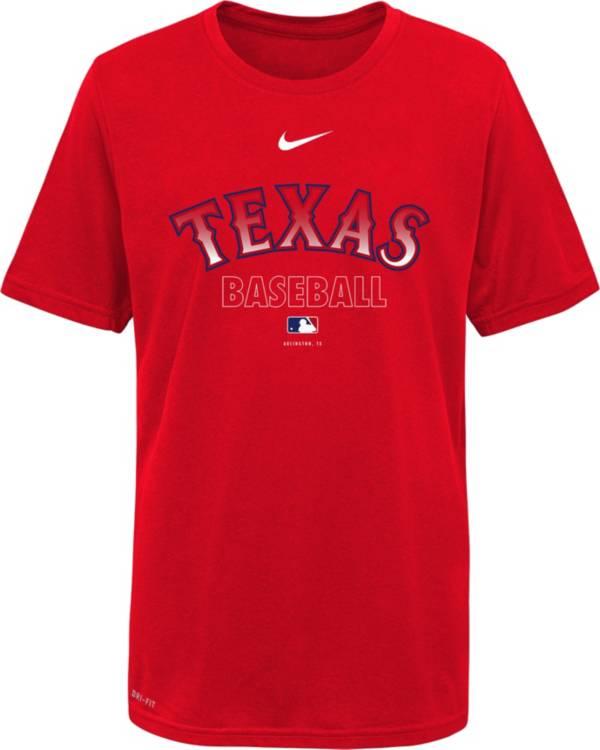 Nike Youth Texas Rangers Red Dri-FIT Baseball T-Shirt product image