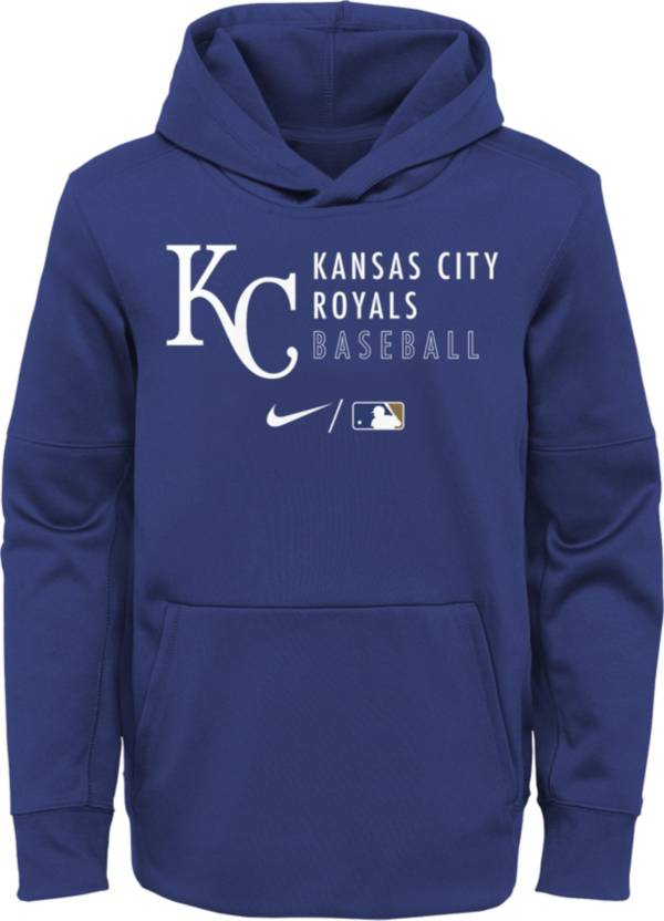 Nike Youth Kansas City Royals Sideline Therma-FIT Blue Pullover Hoodie product image