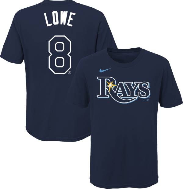 Nike Youth Tampa Bay Rays Brandon Lowe #8 Navy T-Shirt product image