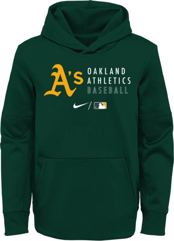 Nike Youth Oakland Athletics Sideline Therma-FIT Green Pullover Hoodie product image