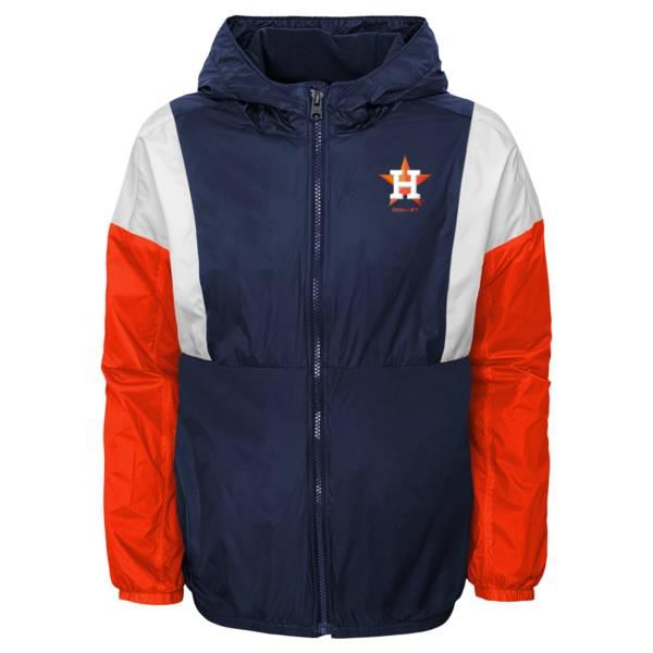 Gen2 Youth Houston Astros Navy Long Sleeve Windbreaker Jacket product image